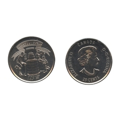 25-CENT -  2017 25-CENT - STANLEY CUP(TM) - BRILLIANT UNCIRCULATED (BU) -  2017 CANADIAN COINS