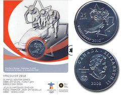 25-CENT -  BOBSLEIGH - OFFICIAL FIRST DAY COIN -  2008 CANADIAN COINS 09