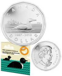 25TH ANNIVERSARY OF THE LOONIE COIN -  2012 CANADIAN COINS