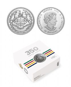 350TH ANNIVERSARY OF HUDSON'S BAY COMPANY -  2020 CANADIAN COINS