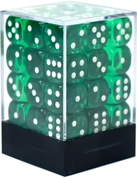 36D6, GREEN WITH WHITE -  TRANSLUCENT