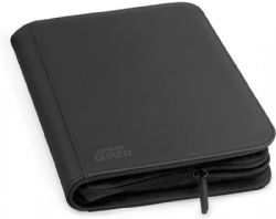 4-POCKET PORTFOLIO -  ZIPFOLIO - 20 PAGES - XENOSKIN - 160 - BLACK