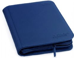 4-POCKET PORTFOLIO -  ZIPFOLIO - 20 PAGES - XENOSKIN - 160 - BLUE