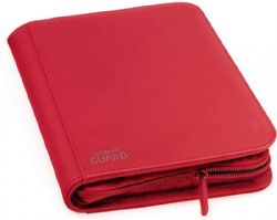 4-POCKET PORTFOLIO -  ZIPFOLIO - 20 PAGES - XENOSKIN - 160 - RED