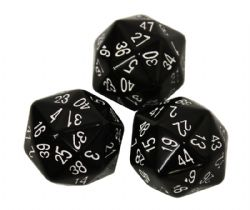 48 BLACK SIDED DICE