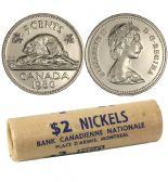 5-CENT -  1980 5-CENT ORIGINAL ROLL -  1980 CANADIAN COINS