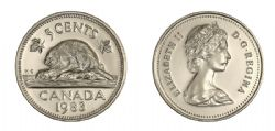 5-CENT -  1983 5-CENT - BRILLIANT UNCIRCULATED (BU) -  1983 CANADIAN COINS
