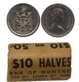 50-CENT -  1981 50-CENT ORIGINAL ROLL -  1981 CANADIAN COINS