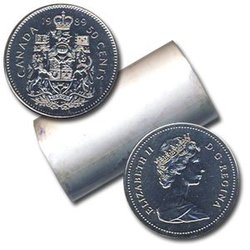 50-CENT -  1989 50-CENT ORIGINAL ROLL -  1989 CANADIAN COINS