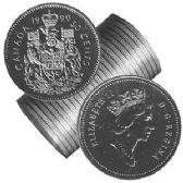 50-CENT -  1990 50-CENT ORIGINAL ROLL -  1990 CANADIAN COINS