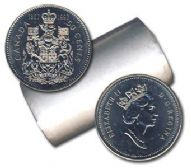 50-CENT -  1992 50-CENT ORIGINAL ROLL -  1992 CANADIAN COINS