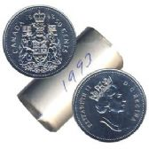 50-CENT -  1993 50-CENT ORIGINAL ROLL -  1993 CANADIAN COINS