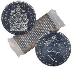 50-CENT -  1999 50-CENT ORIGINAL ROLL -  1999 CANADIAN COINS
