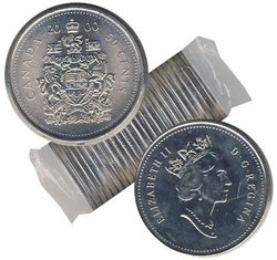 50-CENT -  2000 50-CENT ORIGINAL ROLL -  2000 CANADIAN COINS