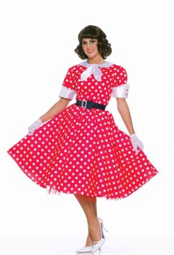 50'S -  50'S HOUSEWIFE COSTUME (ADULT - ONE SIZE)