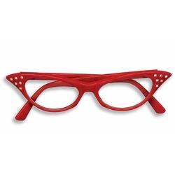 50'S -  50'S RHINESTONE GLASSES - RED