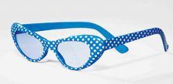 50'S -  50'S SUMMER DAZE GLASSES - BLUE AND WHITE