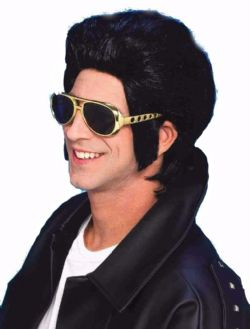 50'S -  GREASER WIG - BLACK (ADULT)