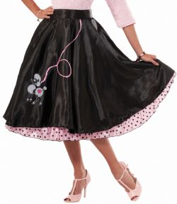 50'S -  POODLE SKIRT - BLACK