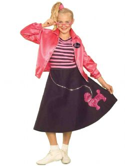 50'S -  POODLE SKIRT COSTUME (TEEN - ONE SIZE)