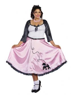 50'S -  ROCK AROUND THE CLOCK COSTUME - (ADULT)
