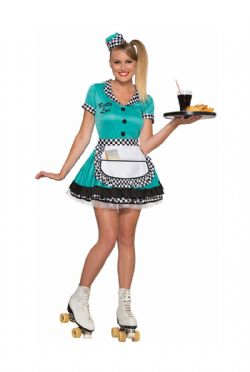 50'S -  WAITRESS BETTY LOU COSTUME (ADULT)