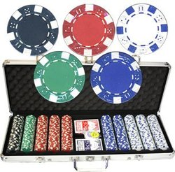500-CHIP POKER CASE -  REGULAR WITHOUT VALUE (13.5 GRAMS)