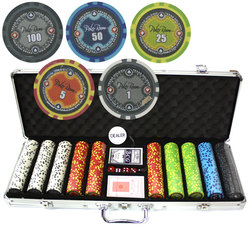 500-CHIP POKER CASE -  VIP POKER ROOM (11.5 GRAMS, ABS)