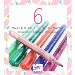 6 GLITTER MARKERS / SWEET (MULTILINGUAL)
