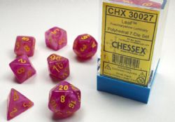 7 DICE, FUSCHIA AND YELLOW -  LAB DICE