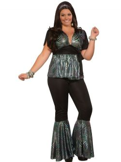 70'S -  DISCO DANCER COSTUME (PLUS SIZE - ONE-SIZE)