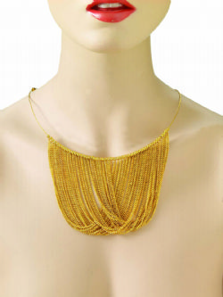 70'S -  GOLD CHAIN DISCO NECKLACE