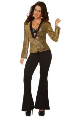 70'S -  GOLD SEQUIN BLAZER (ADULT - ONE SIZE)