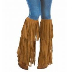 70'S -  HIPPIE FRINGED BOOT TOPS (ONE-SIZE)