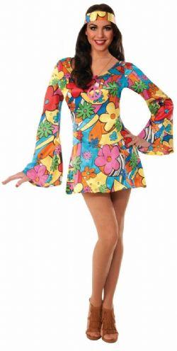 70'S -  HIPPIE GROOVY GO-GO DRESS (ADULT)