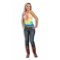 70'S -  HIPPIE TIE DYE TANK TOP COSTUME (ADULT)