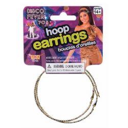 70'S -  HOOP EARRINGS - GOLD