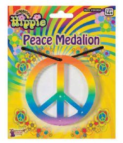 70'S -  RAINBOW PEACE MEDALLION NECKLACE
