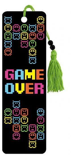 8 BIT GAMER -  GAME OVER - 8 BIT GAMER BOOKMARK