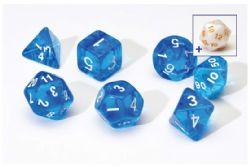 8 DICE TUBE, SEMI-TRANSLUCENT, BLUE