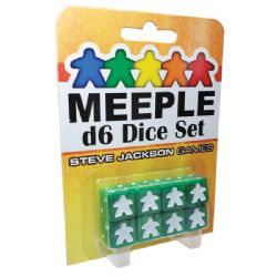 8 MEEPLE D6 DICE SET (GREEN)
