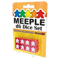 8 MEEPLE D6 DICE SET (RED)