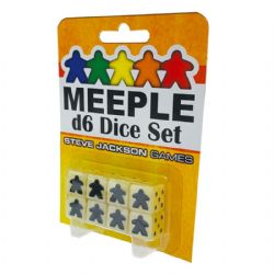 8 MEEPLE D6 DICE SET (WHITE)