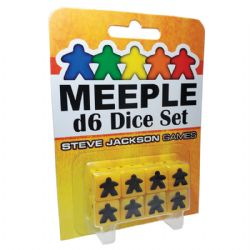 8 MEEPLE D6 DICE SET (YELLOW)