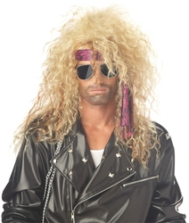 80'S -  ''HEAVY METAL ROCKER'' WIG - BLOND