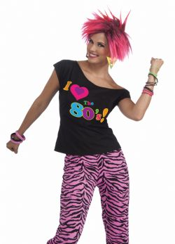 80'S -  I LOVE THE 80'S SHIRT (ADULT)