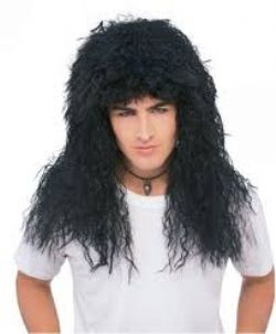 80'S -  NEW WAVE WIG - BLACK (ADULT)