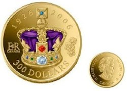 80TH BIRTHDAY OF THE QUEEN ELIZABETH II -  2006 CANADIAN COINS