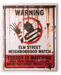 A NIGHTMARE ON ELM STREET -  PLASTIC SIGN
