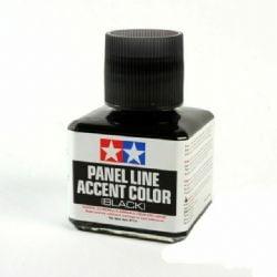 ACCENT COLOR PAINT -  TAMIYA WASH - BLACK (1.35 OZ.) -  PANEL LINE